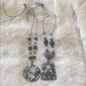 Bundle of 2: Lucite and Beaded Necklaces
